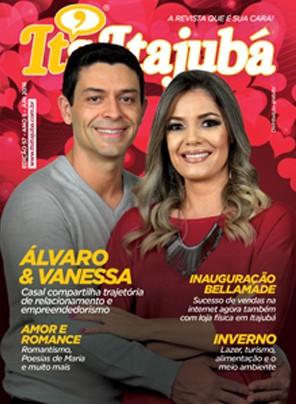 Ed. 57 - Revista It's Itajubá - Capa Álvaro Pamplona e Vanessa Guedes