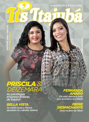 Ed. 66 - Revista It's Itajubá - Capa Priscila e Deizemara - Tornar-se consultório de psicologia