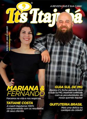 Ed. 69 - Revista It's Itajubá - Capa Mariana Martins e Fernando Sales - Barbearia Cadillac
